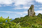 The Needle, halfway along the Cross Island Track on the island of Rarotonga, in the Cook Islands.
