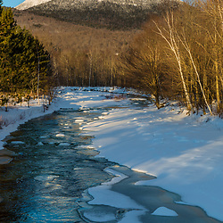 Nash Stream and the Percy Peaks in New Hampshire's Great North Woods.