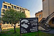 Izaak Synagoga (największa synagoga w Krakowie, 1640-44), Kazimierz, Kraków, Polska.<br /> Izaak's Synagogue (Cracow's largest synagogue, 1640-44), Kazimierz, Cracow, Poland.
