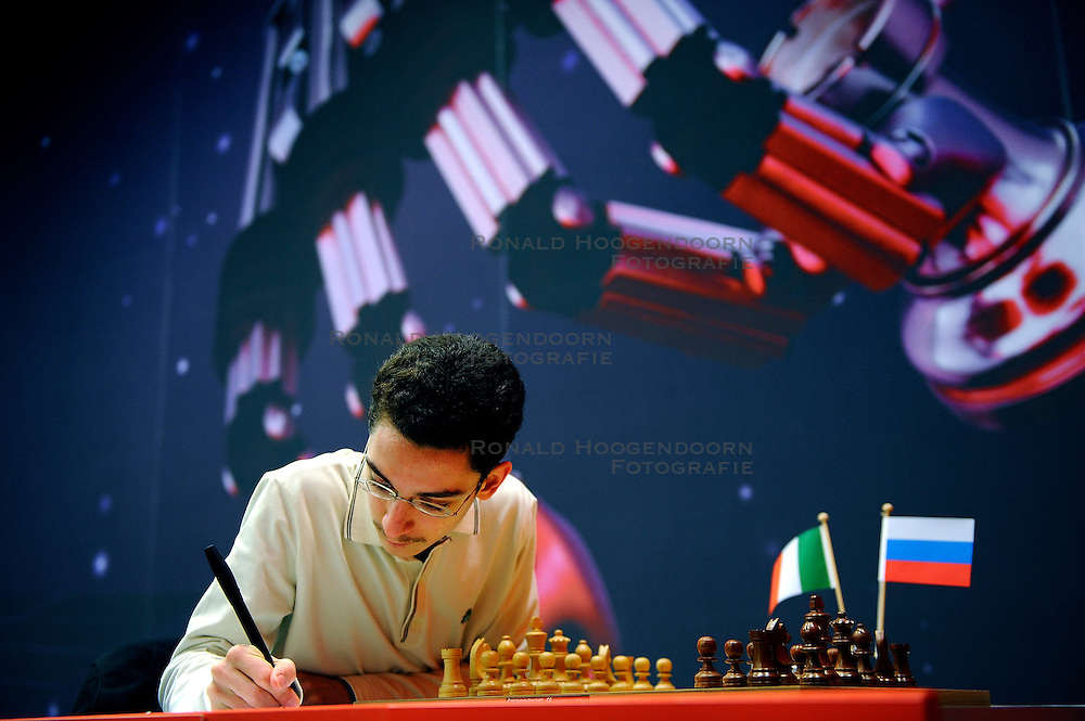 18-01-2010 SCHAKEN: CORUS CHESS 2010: WIJK AAN ZEE<br /> Derde ronde van het Corus Schaaktoernooi 2010 / Fabiano Caruana ITA<br /> ©2010-WWW.FOTOHOOGENDOORN.NL