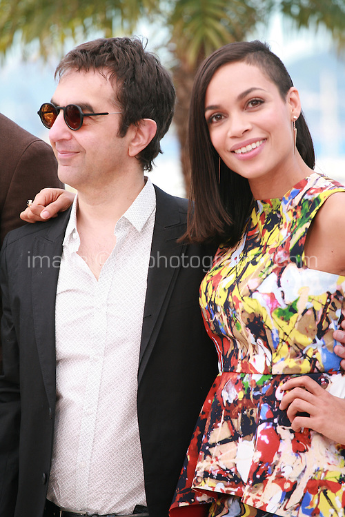 Director Atom Egoyan and actress Rosario Dawson  at the photocall for the film Captives at the 67th Cannes Film Festival, Friday 16th May 2014, Cannes, France.