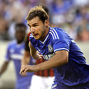 Branislav Ivanovic, Chelsea, in action during the Chelsea V AC Milan Guinness International Champions Cup tie at MetLife Stadium, East Rutherford, New Jersey, USA.  4th August 2013. Photo Tim Clayton