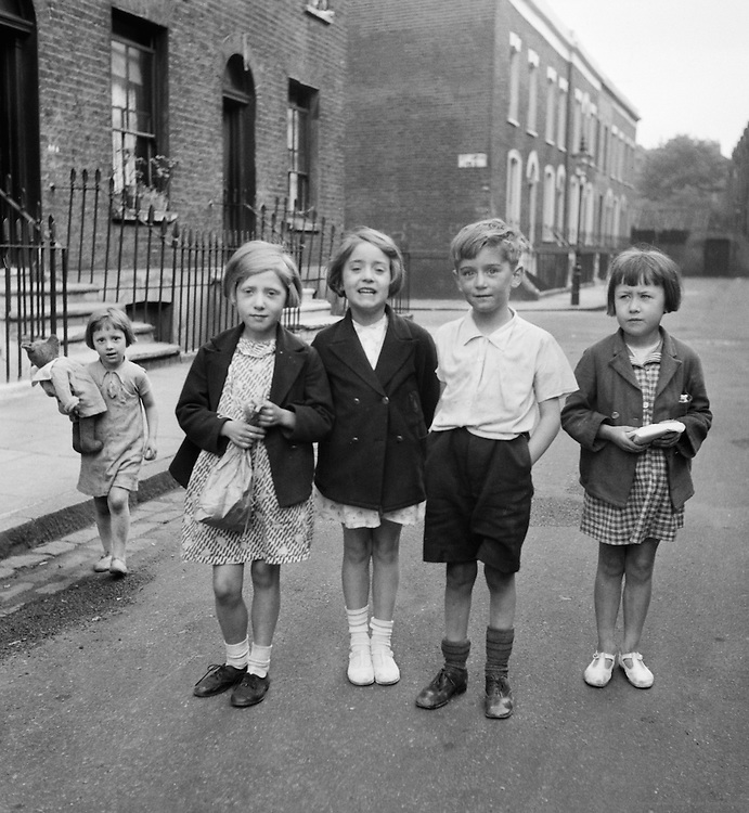 Children in London, London, England, 1937