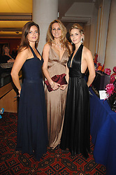 Left to right, LADY NATASHA RUFUS-ISAACS, BRYONY DANIELS and ISABELLE COATEN at a Gala dinner in aid of Chickenshed held at the Guildhall, City of London on 29th October 2007.<br /><br />NON EXCLUSIVE - WORLD RIGHTS