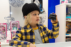 Spin Master Toys' Boxer retails at £79.99. Ahead of Christmas the Dream Toys exhibition at St Mary's Church in Marylebone, London showcases the hottest toys in the market including the top twelve. London, November 14 2018.
