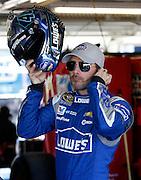 NASCAR Sprint Cup Series auto racing driver ___ at Kansas Speedway in Kansas City, Kan., Friday, Oct. 16, 2015. (AP Photo/Colin E. Braley)