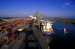 Aerial of Container Port at Port of Houston