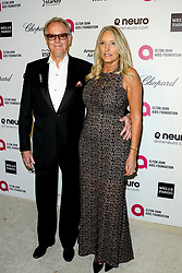 File photo - Peter Fonda, Margaret DeVogelaere attending the Elton John AIDS Foundation 23rd Annual Academy Awards Viewing Party held at West Hollywood Park, West Hollywood, Los Angeles, CA, USA on February 22, 2015. Peter Fonda, the star, co-writer and producer of the 1969 cult classic Easy Rider, has died at the age of 79. Peter Fonda was part of a veteran Hollywood family. As well as being the brother of Jane Fonda, he was also the son of actor Henry Fonda, and father to Bridget, also an actor. Photo by ABACAPRESS.COM
