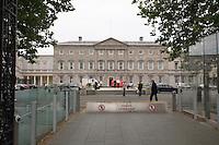 Leinster House Dáil Éireann on Kildare Street Dublin Ireland, the Irish Government Buildings housing the national parliament