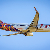 Lion Group operate a code shared Malindo Air / Batik Air flight out of Perth (PER) to Denpasar (DPS) on the island of Bali, Indonesia.  This is PK-LBJ, a Boeing 737-900ER, leaving Perth on that flight, ID-6008. Shot at Perth Airport Viewing Platform - © Phil Luyer - High Octane Photos