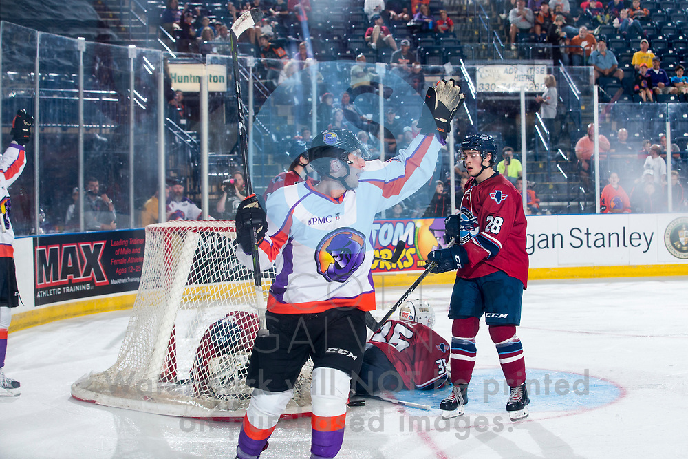 The Youngstown Phantoms lose 4-2 to the Central Illinois Flying Aces on October 7, 2017.<br /> <br /> Chase Gresock, right wing, 19