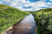 Pretty river on the south coast of Newfoundland, Canada