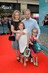 Nicola Stephenson, Paul Stephenson, Esmé Rose Stephenson and Iris Stephenson arriving at The opening night of Wind in The Willows at the London Palladium, Argyll Street, London England. 29 June 2017.<br /> Photo by Dominic O'Neill/SilverHub 0203 174 1069 sales@silverhubmedia.com