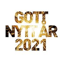 """Nyårs hälsningar i form av ett fyrverkeri i texten """"Gott nytt år 2021""""."""
