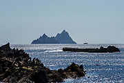 The Skellig Rocks as viewed from The Glen, Ballinskelligs 2019.<br /> Photo don MacMonagle