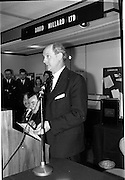 09/03/1964<br /> 03/09/1964<br /> 09 March 1964<br /> Office Productivity Exhibition in Dublin. The exhibition sponsored by the Dublin Junior Chamber of Commerce was opened by Mr Jack Lynch, Minister for Industry and Commerce at the Intercontinental Hotel, Dublin. Picture shows Jack Lynch speaking at the opening.
