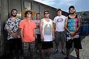 Set Your Goals photographed backstage on Warped Tour, July 5, 2010