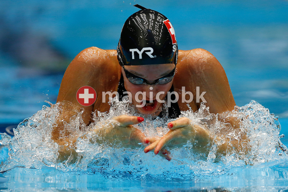 Sibylle GRAENICHER of Switzerland competes in the women's 200m Breaststroke Heats during the 17th European Short Course Swimming Championships held at the Jyske Bank BOXEN in Herning, Denmark, Friday, Dec. 13, 2013. (Photo by Patrick B. Kraemer / MAGICPBK)