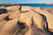 Glacially eroded Precambrian shield rock on coast islands in Georgian Bay (Lake Huron) near south end of Killarney Provincial Park. <br />South Philip Edward Island<br />Ontario<br />Canada