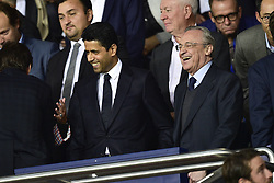 September 18, 2019, Paris, France, France: Nasser Al Khelaifi - president du PSG et Florentino Perez - president  (Credit Image: © Panoramic via ZUMA Press)