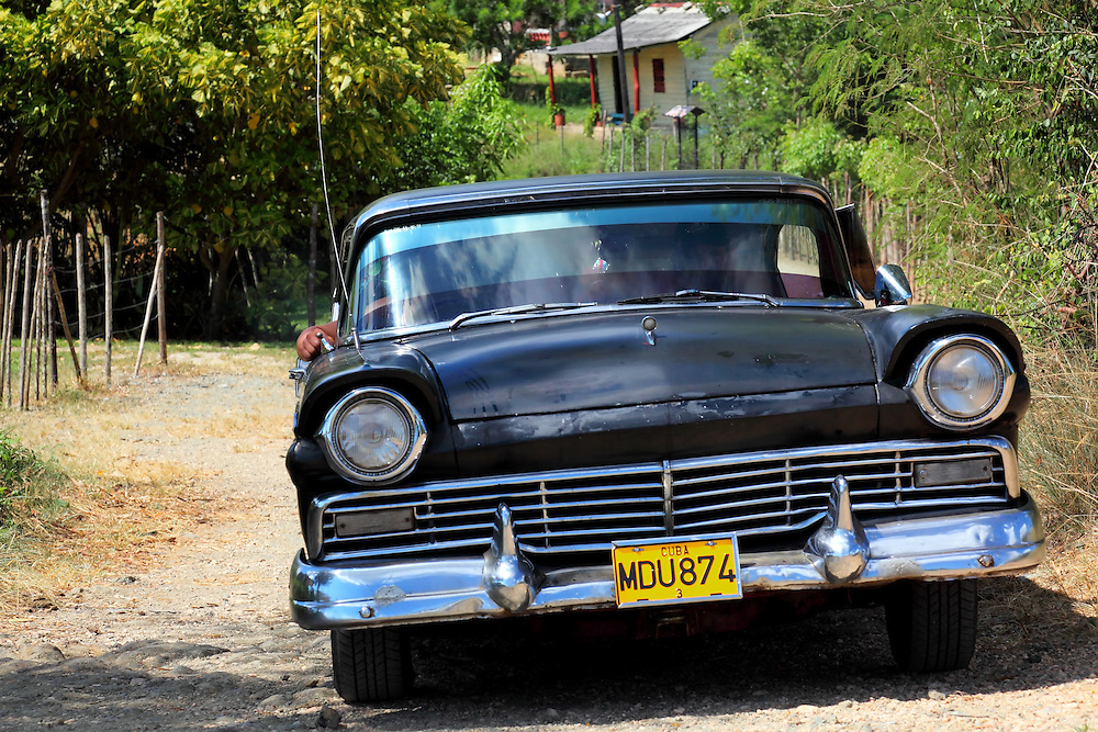 Old car in San Miguel de los Banos, Matanzas, Cuba.