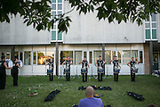 Shadow Armada performs in Racine, Wisconsin on July 16, 2015.