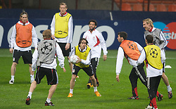 MILAN, ITALY - Monday, March 10, 2008: Liverpool's Yossi Benayoun training at the San Siro Stadium ahead of the UEFA Champions League First knockout round 2nd Leg match against FC Internazionale Milano. (Pic by David Rawcliffe/Propaganda)