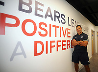 Rugby Union - 2020 - Premiership - Bristol Bears<br /> <br /> Pat Lam - Head Coach of Bristol Bears, stands beside one of 13 motivational phrases that he has added to the walls of the  training centre at the new Bristol Bears Training facility<br /> <br /> Credit: COLORSPORT/ANDREW COWIE