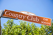 Country Club Dr Street Sign in San Gabriel