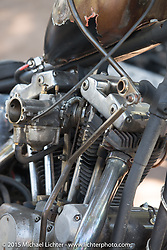 Day two of the Born Free Vintage Chopper and Classic Motorcycle Show at the Oak Canyon Ranch in Silverado, CA. USA. Sunday, June 29, 2014.  Photography ©2014 Michael Lichter.