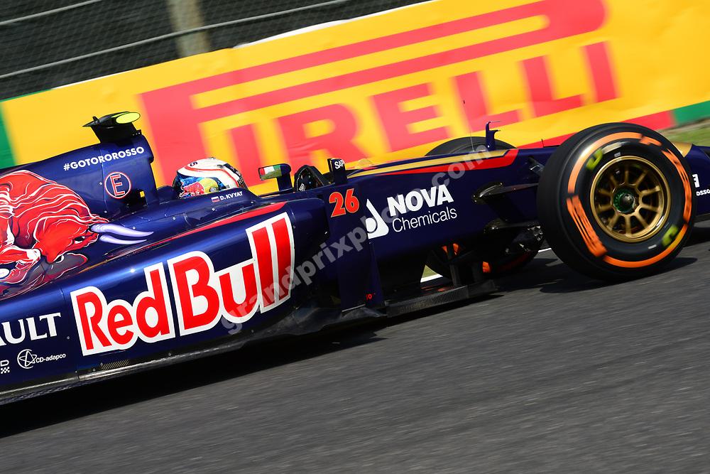 Daniil Kvyat (Toro Rosso-Renault) during practice for the 2014 Japanese Grand Prix in Suzuka. Photo: Grand Prix Photo