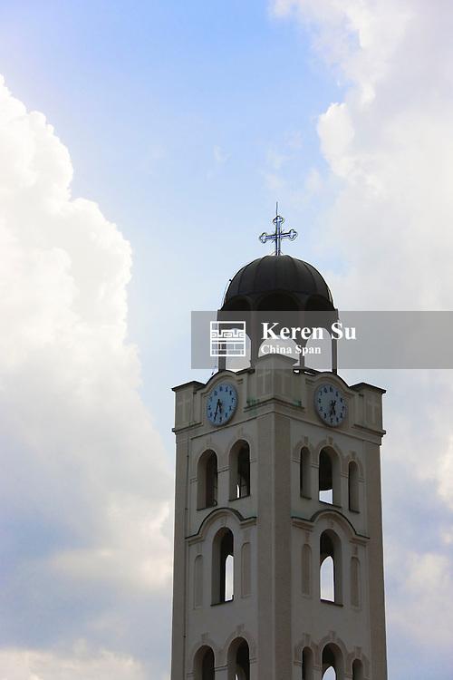 Clock tower in the bazaar, old town, Skopje, Republic of Macedonia, Europe