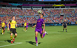 CHARLOTTE, USA - Sunday, July 22, 2018: Liverpool's Dominic Solanke during a preseason International Champions Cup match between Borussia Dortmund and Liverpool FC at the  Bank of America Stadium. (Pic by David Rawcliffe/Propaganda)