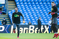 Crystal Palace #1 Julián Speroni, Crystal Palace #13 Wayne Hennessey during the warm up before Premier League match between Crystal Palace and Stoke City at Selhurst Park, London, England on 25 November 2017. Photo by Sebastian Frej.