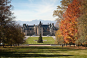 The Biltmore Estate privately owned by the Vanderbilt family in Asheville, NC. The house is the largest private home in America with over 250 rooms.