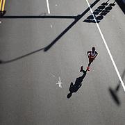Getachew Melese, Bronx, New York, winning the ING Hartford Marathon, Bushnell Park, Hartford. Connecticut. USA. Hartford, Connecticut, USA. 12th October 2013. Photo Tim Clayton