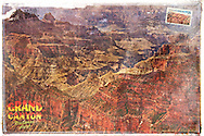 Grand Canyon, Arizona, USA - Forgotten Postcard digital art collage