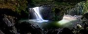 Natural Bridge waterfall on Cave Creek, Springbrook National Park, Queensland, Australia.