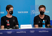 Marcus Daniel and Michael Venus speak at a press conference during the Tokyo 2020 Olympic Games. Tuesday 27th July 2021. Mandatory credit: © John Cowpland / www.photosport.nz