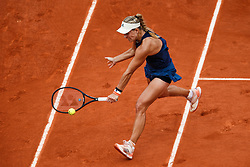 June 4, 2018 - Paris, U.S. - PARIS, FRANCE  - JUNE 04: ANGELIQUE KERBER (GER) during French Open on June 04, 2018, at Stade Roland-Garros in Paris, France.(Photo by Chaz Niell/Icon Sportswire) (Credit Image: © Chaz Niell/Icon SMI via ZUMA Press)