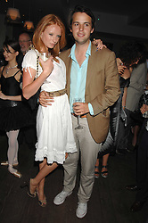 OLIVIA INGE and CHARLIE GILKES at a party to celebrate the launch of the Boodles Wonderland jewellery collection held at the Haymarket Hotel, 1 Suffolk Place, London on 9th June 2008.<br />