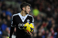 Southampton's Adam Lallana (20) in action. Barclays Premier league, Cardiff city v Southampton at the Cardiff city Stadium in Cardiff,  South Wales on Boxing day, Thursday 26th Dec 2013. <br /> pic by Andrew Orchard, Andrew Orchard sports photography.