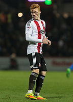 Football - 2016 / 2017 FA Cup - Third Round: Brentford vs. Eastleigh<br /> <br /> Ryan Woods of Brentford at Griffin Park.<br /> <br /> COLORSPORT/DANIEL BEARHAM