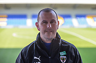 AFC Wimbledon manager Mark Robinson, Level Playing Field badge, before the EFL Sky Bet League 1 match between AFC Wimbledon and Hull City at Plough Lane, London, United Kingdom on 27 February 2021.