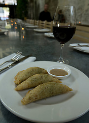 Quesadillas, filled with fresh market greens and Pt. Reyes Toma cheese, served with habanero salsa, at Cala, the first U.S. restaurant from Mexican chef Gabriela Camara, photographed Monday, April 4, 2016, in San Francisco, Calif. (Photo by D. Ross Cameron)