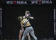 Kampfsport: MMA, We love MMA, Oberhausen, 31.01.2015<br /> Paulina Ioannidou (Combat Club Gologne, vorne) - Fran Vanderstrukken (Perfect Team Belgien)<br /> © Torsten Helmke
