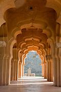 Traditional Indian decorative arches, Hampi, Karnataka, India. .