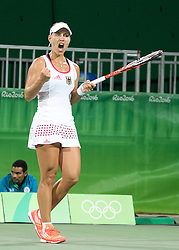 09.08.2016, Olympic Tennis Centre, Rio de Janeiro, BRA, Rio 2016, Olympische Sommerspiele, Tennis, Damen, Achtelfinale, im Bild Angelique Kerber (GER) // Angelique Kerber of Germany during Womens Tennis Tournament knockout stage match of the Rio 2016 Olympic Summer Games at the Olympic Tennis Centre in Rio de Janeiro, Brazil on 2016/08/09. EXPA Pictures © 2016, PhotoCredit: EXPA/ Johann Groder