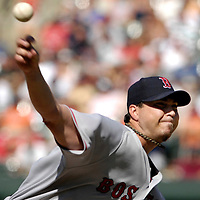 11 August 2007:  Boston Red Sox pitcher Josh Beckett pitches in the 1st inning against the Baltimore Orioles. Beckett gave up two earned runs in 8 innings, striking out eight for his 15th win of the year as the Red Sox defeated the Orioles 6-2 at Camden Yards in Baltimore, MD.