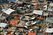 Boats moored in Dubai creek. Dubai, United Arab Emirates.